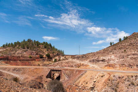 huelva: Rio Tinto mining landscape in the province of Huelva, Andalusia Stock Photo