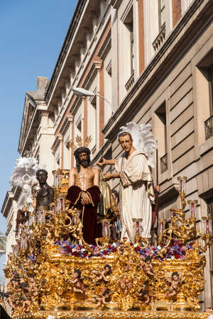 brotherhood: Step mystery of the Brotherhood of San Benito, Easter in Seville