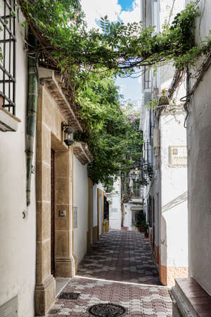 town planning: Streets of the old town of Marbella, Andalusia Stock Photo