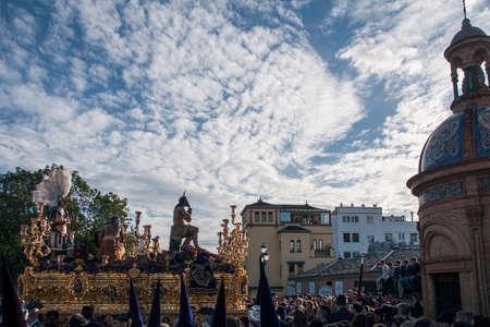 penance: brotherhoods of penance, Christ Star, Holy Week in Seville