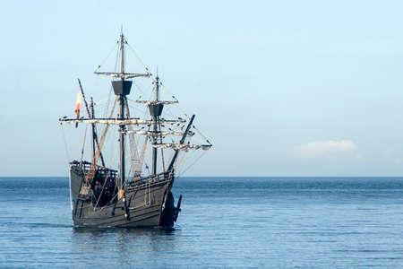 Nao Victoria sailing along the coast
