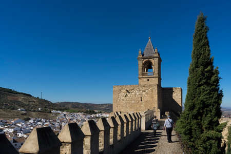 architecture monumental: Spain monuments in the citadel of Antequera in Malaga