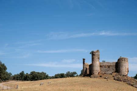 badajoz: Castle Towers Monesterio in the province of Badajoz