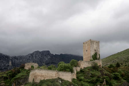 four corners: Yedra castle or the four corners in the town of Cazorla, Ja�n � n