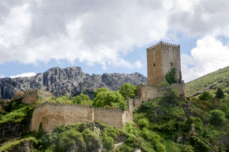 four corners: Yedra castle or the four corners in the town of Cazorla,