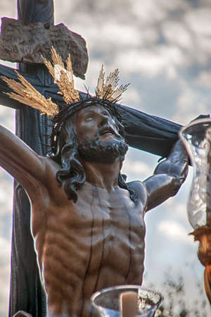 Christ the expiry in the Holy Week in Seville Stock Photo