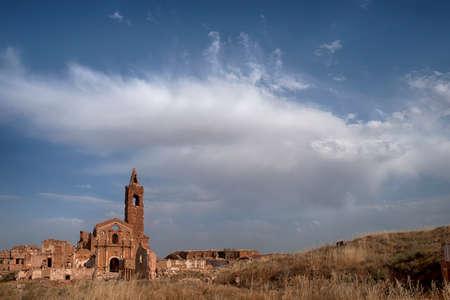 Belchites Pueblo Ruins destroyed by bombing Civil War Espa