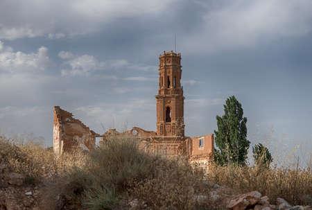 bombing: Belchites Pueblo Ruins destroyed by bombing Civil War Espa� ? ? ola Stock Photo