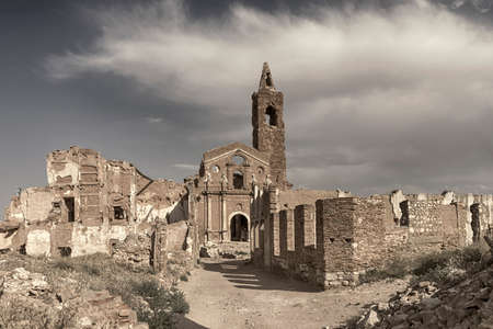 bombing: Belchites Pueblo Ruins destroyed by bombing Civil War Espa? ? ola