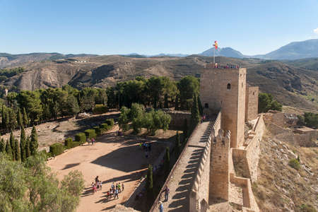 building monumental: view of the old Arab citadel of the city of Antequera in the province of Malaga Stock Photo