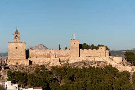 humankind: view of the old Arab citadel of the city of Antequera in the province of Malaga Stock Photo