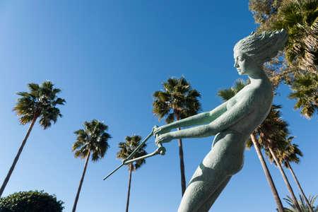 venus: Symbols of Marbella, sculpture Venus Stock Photo