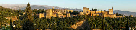 Panoramic view of the Alhambra of Granada, Andalusia