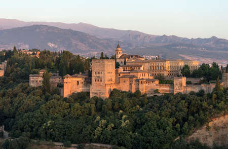 Nazara beautiful fortress of the Alhambra in Granada, Andalusia