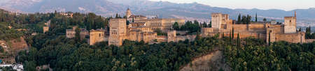 panoramic of the Alhambra in Granada, Andalusia