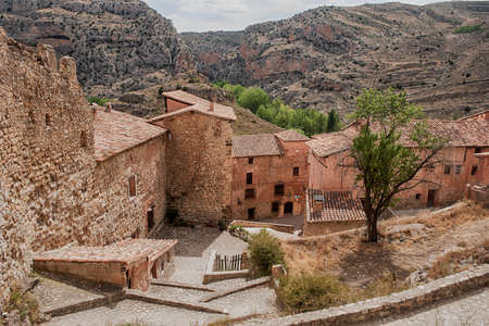 Medieval village of Albarracin in the province of Teruel, Spain Stock Photo