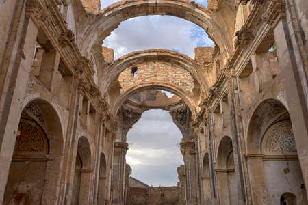 shelling: Belchite abandoned city after the bombing of the civil war espa? ? ola