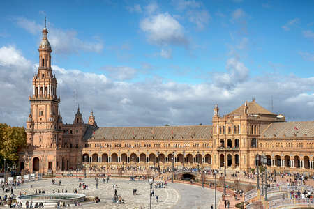 Monumental Plaza of Spain in Seville, Andalusia