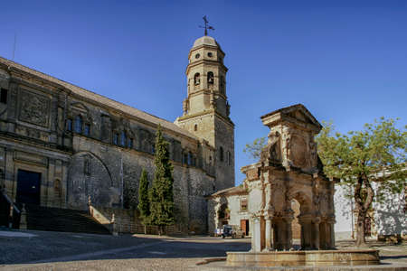Monumental center of Baeza municipality in the province of Jaen, Andalusia Editorial