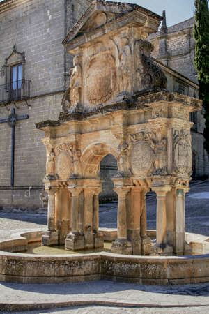 Monumental center of Baeza municipality in the province of Jaen, Andalusia Stock Photo