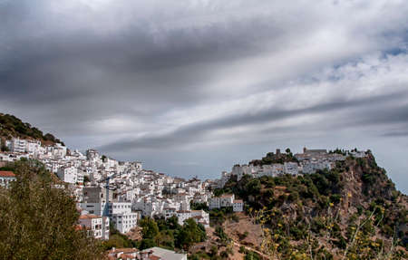 Beautiful white andalusian village in the province of Malaga, Casares