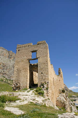 Ruins of the old castle of the municipality of Bedmar, Jaen Stock Photo