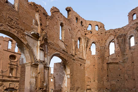 Abandoned city of Belchite after the bombings of the Spanish Civil War Editorial