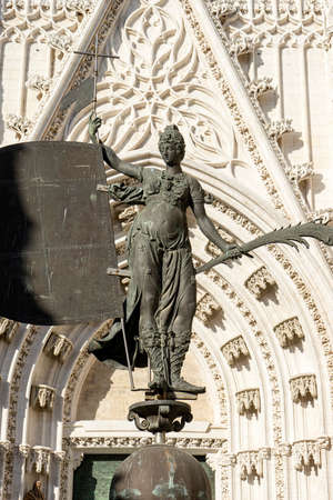 Copy of the sculpture of the Giraldillo is located in the Cathedral of Seville Stock fotó