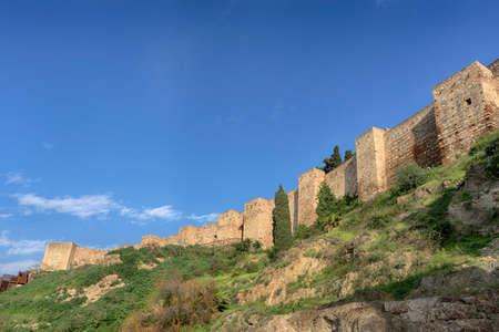 Walls of the Arab Alcazaba of Malaga, Andalucia