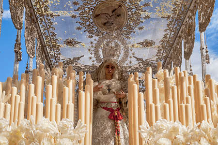 Canopies: Virgin of the brotherhood of Peace, Holy Week in Seville Editorial