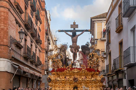 Procession of the brotherhood of the waters, Easter in Seville Editorial