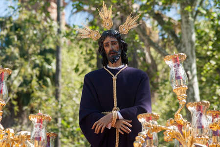processions: Jesus captive in the procession of the Holy Week in Seville
