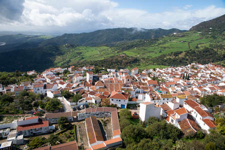 Commune of Gaucin in the Serrania de Ronda, Malaga province, Andalucia Stock Photo
