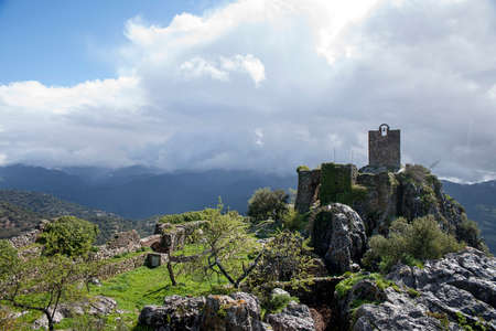 Remains of the old Almohad castle of Gaucin in the province of Malaga, Andalusia