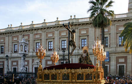 Brotherhood of Santa Cruz in the Holy Week in Seville