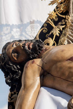 Christ on the mercy of the brotherhood of the marketplace, Holy Week in Seville Stock Photo