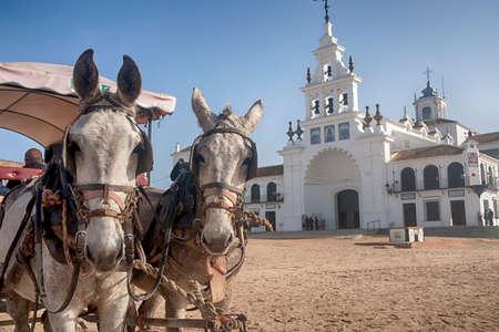 Hermitage of El Rocio in the province of Huelva Stockfoto