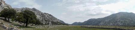 Panoramic view of Los Llanos de Libar in the Natural Park of Grazalema, Andalusia Stock Photo