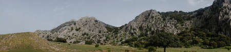 Plain of the republican in the Natural Park of Grazalema, Andalusia Stock Photo