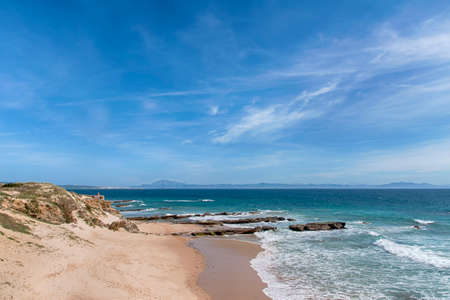 Beautiful virgin beaches of Andalusia, valdevaqueros in the province of Cadiz