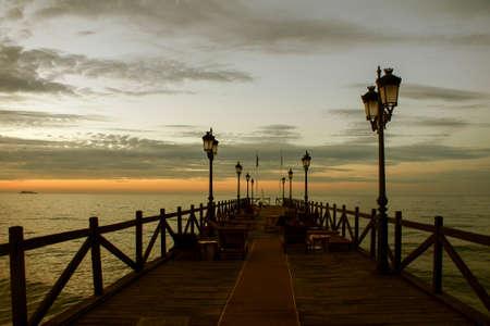 Beautiful sunrise on the coast of Marbella, Andalucia