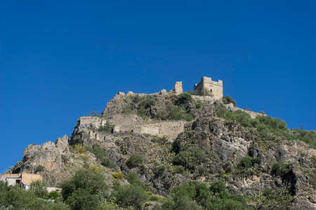 Old Arab castle of Zahara de la Sierra in the province of Cadiz, Andalusia, Spain