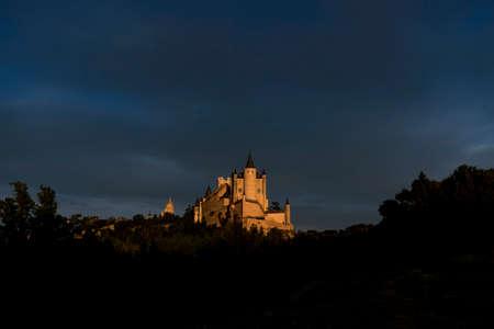 Monuments of the city of Segovia, the Real Alcazar, Spain Stock Photo