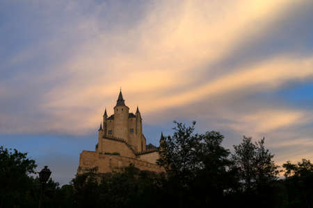 Monuments of the city of Segovia, the Real Alcazar, Spain Stock Photo