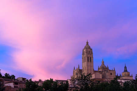 castile leon: Santa Maria Cathedral in Segovia, Spain