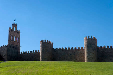 Medieval wall of the city of Avila, Spain