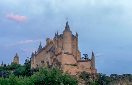 castile: Monuments of the city of Segovia, the Real Alcazar, Spain Stock Photo