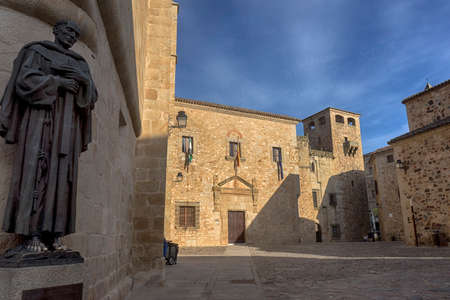 seniority: Beautiful and monumental city of Caceres in Spain