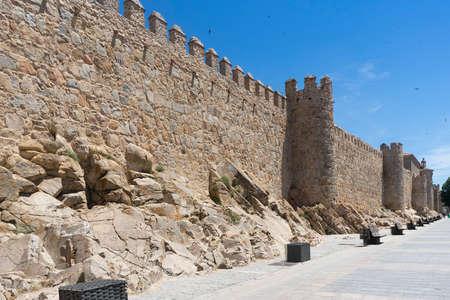 seniority: Medieval wall of the city of Avila, Spain