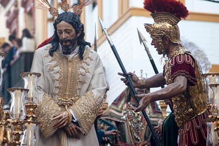 Step of Mystery of the brotherhood of Bitterness, holy week of Seville Editorial
